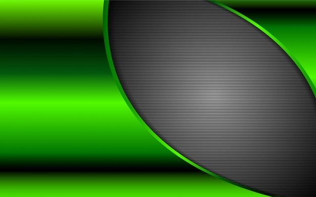 Абстрактный металлический зеленый фон формы