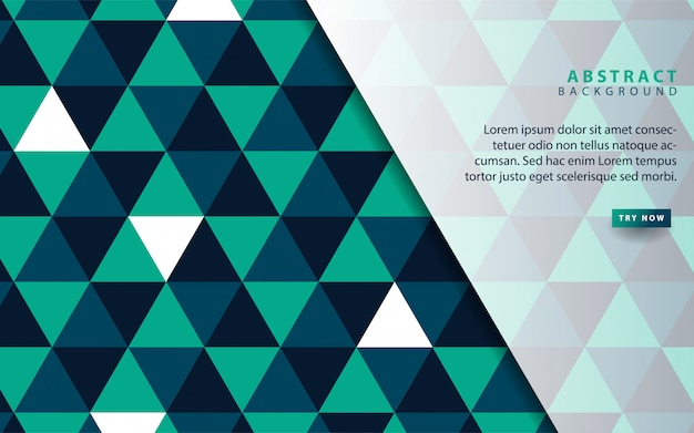 Абстрактный треугольник синий узор фона