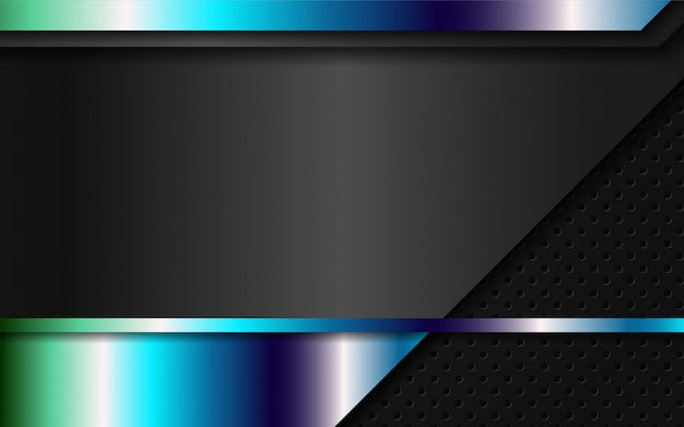 黒の背景に抽象的な金属の形