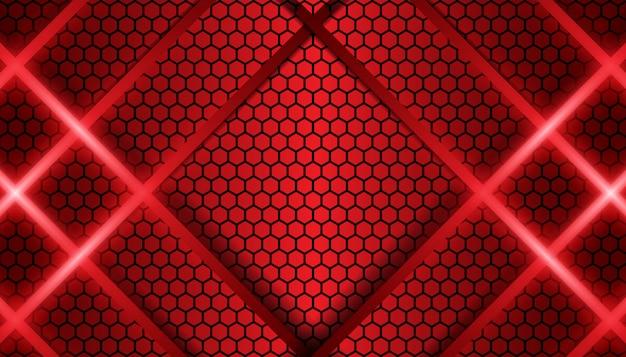 抽象的な赤い線金属形状の背景