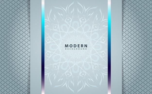 Роскошная серебряная бумажная рамка с орнаментом из мандалы