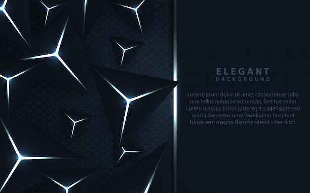 三角形の組成を持つエレガントな暗い青色の背景