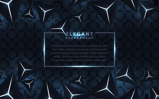 三角形とエレガントな暗い青色の背景