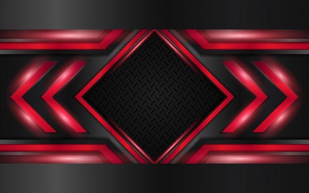 抽象的な赤方向技術の背景