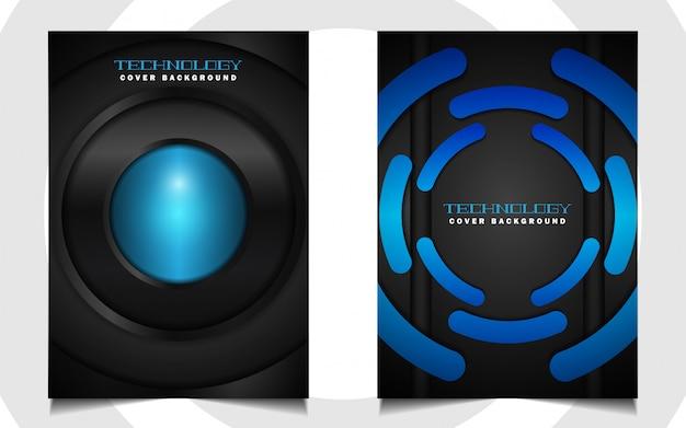Абстрактный футуристический синий и черный чехол