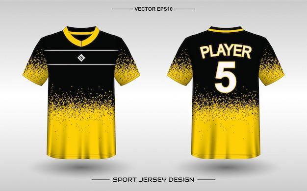 Шаблон дизайна спортивного трикотажа для униформы команды