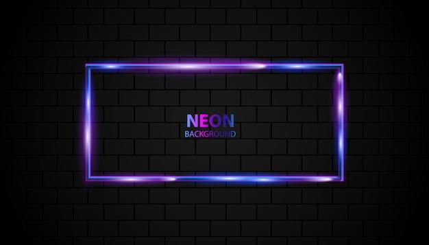 Эффект неонового света на темной стене