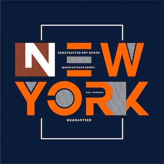 ニューヨーク-タイポグラフィ