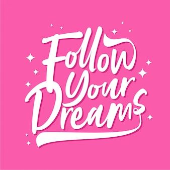 Следуй за своими мечтами - типография
