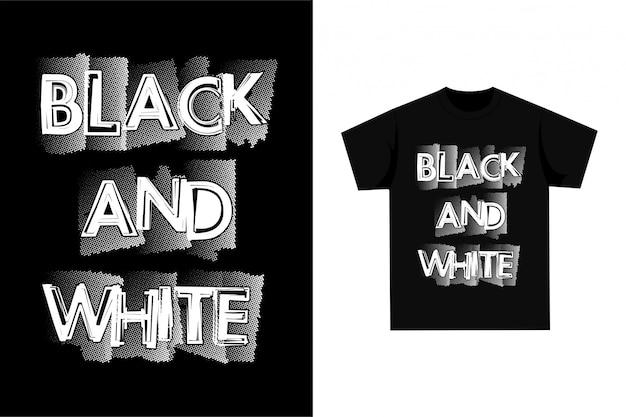 Черно-белая футболка с рисунком