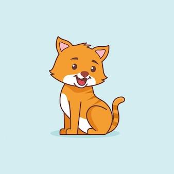 Милый улыбающийся кот