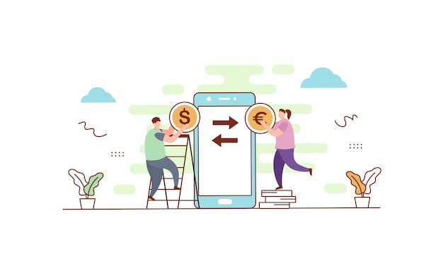 外貨両替の図