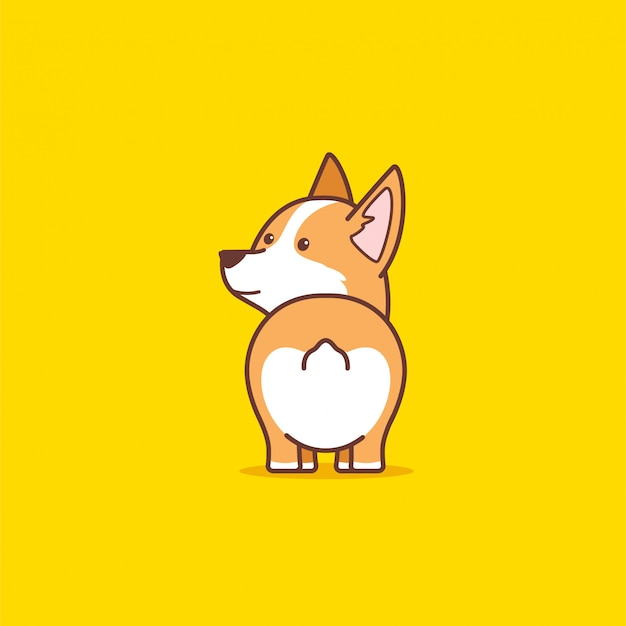 Милая собака корги
