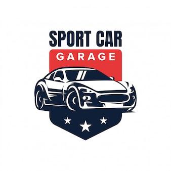スポーツ車のバッジのロゴデザインベクトル図