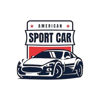 スポーツ車のバッジのロゴの設計