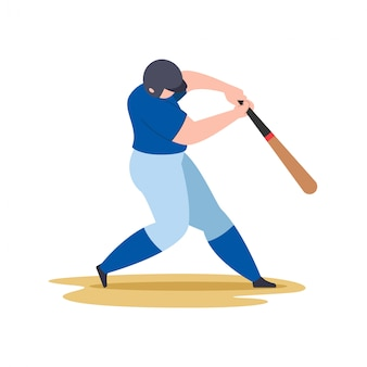 野球選手スイング野球バット