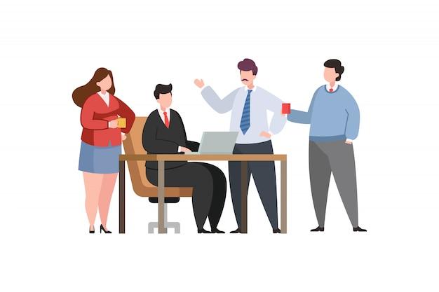 Люди в современном офисе иллюстрации