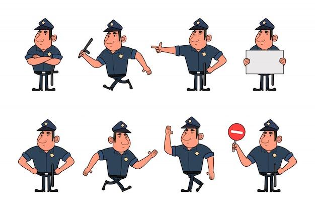 警官キャラクターセット