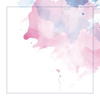 フレームと抽象的な水彩画の背景