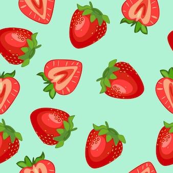 かわいいパターンのシームレスなフルーツ