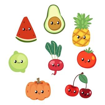 Симпатичные фрукты иллюстрация