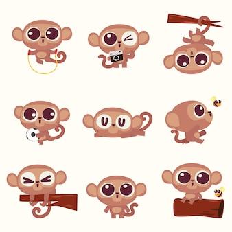 Милая иллюстрация обезьяны