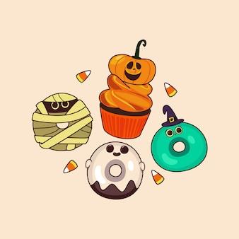 かわいいキャラクターハロウィンパーティー
