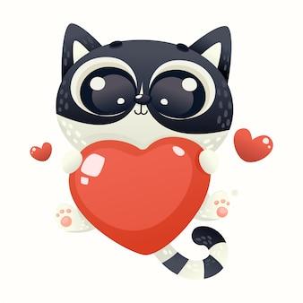 Милый котенок любовь
