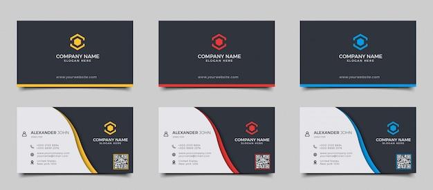 Современный креативный и чистый шаблон визитной карточки