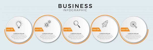 ビジネスインフォグラフィックの手順