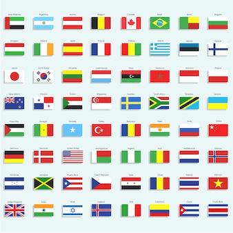 Коллекция значков флагов