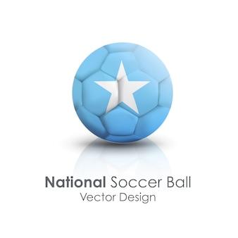 伝統的なフットボールのアイコン球のパス