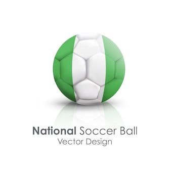国際サッカーのクローズアップシンボルの古典