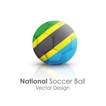 ゲームラウンドのクローズアップオブジェクトサッカーボール