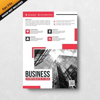 赤いビジネス企業チラシデザインテンプレート