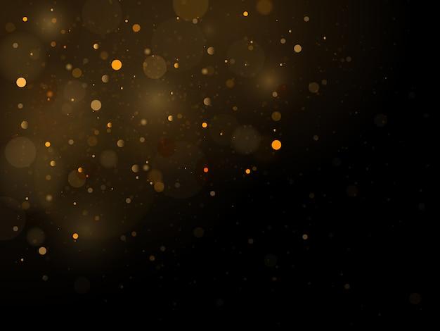 黒と白または銀、金のクリスマスのキラキラ。