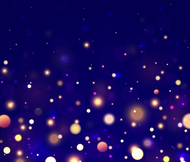 お祝いの青、紫、金色の明るい背景。