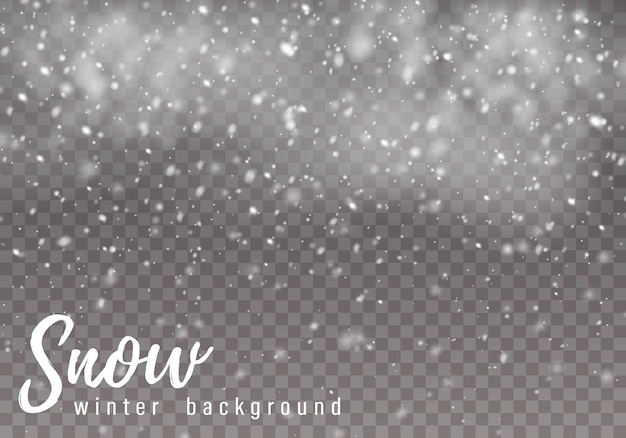 Падающий рождественский снег, снежинки, сильный снегопад