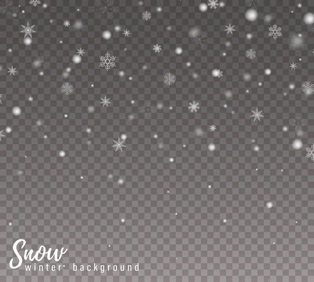 Падающий снег фон