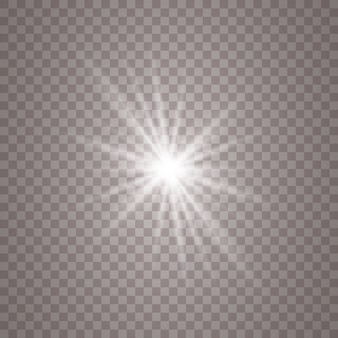 Белый светящийся светлый фон