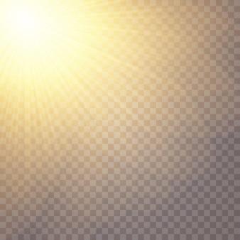 グローライト効果。星はスパンコールを点滅させました。太陽のまぶしさ。