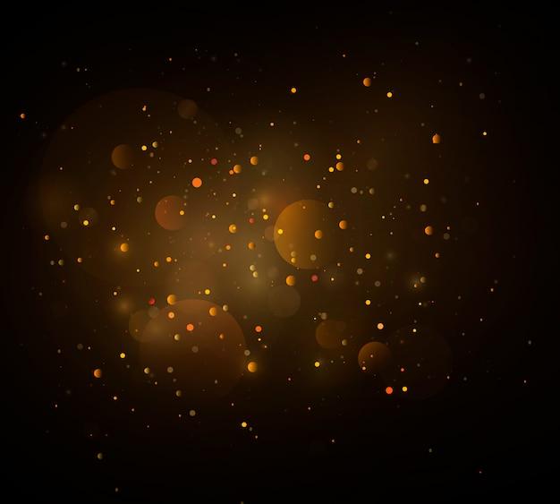ボケ効果のある輝く魔法のダスト粒子。