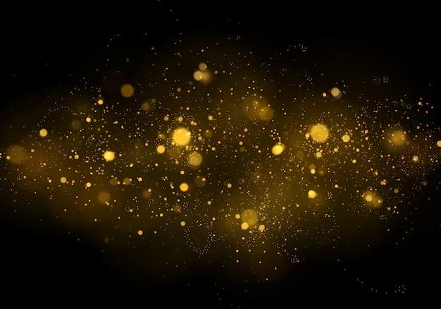 テクスチャ背景抽象的な黒と白または銀のキラキラとエレガントなクリスマス。ダストホワイト。きらめく魔法のほこりの粒子。魔法のコンセプト。ボケ効果と抽象的な背景