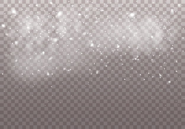 白い魔法の塵の粒子。