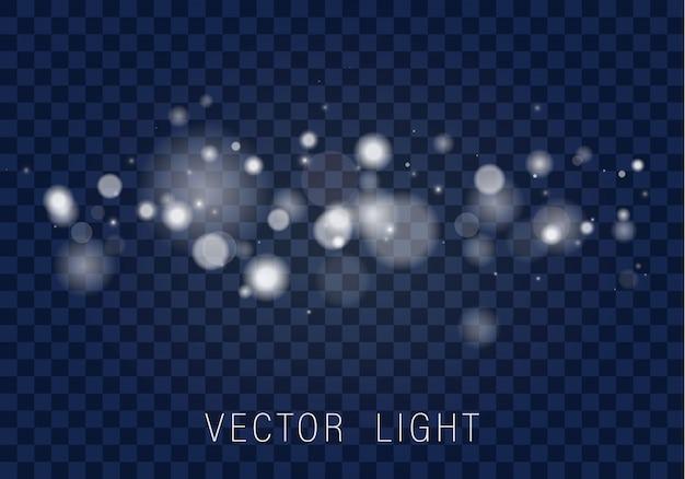 イエローホワイトゴールドライト抽象的な輝くボケライト効果は透明な背景に分離されました。