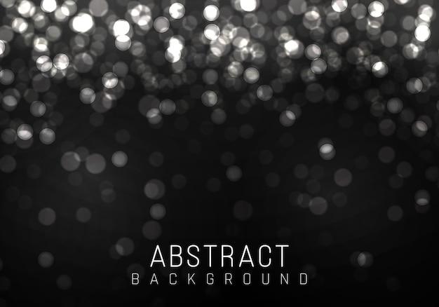 白ボケ、シルバーライト、透明な背景にぼけボケライト。抽象的なキラキラデフォーカス点滅星と火花。