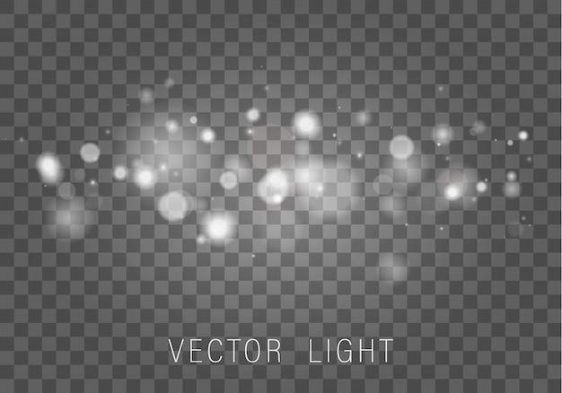 輝くボケライト効果は透明な背景に分離されました。