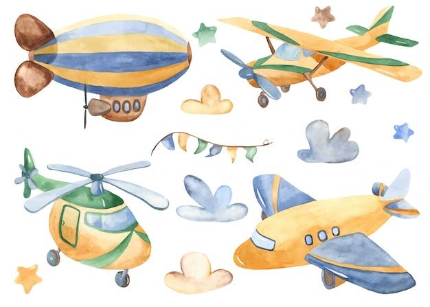 かわいい漫画の航空輸送