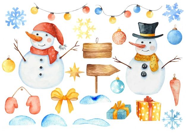 Зимние рождественские элементы