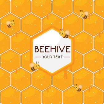 かわいい蜂のパターン。